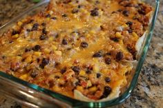 LF - ground turkey taco casserole (or beef) - omit the black beans and use a homemade, LF salsa