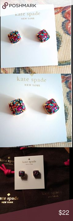 NWOT Kate Spade Mini Multi Glitter Earring Studs New without tags Kate Spade Mini Multi Glitter Earring Studs. Measures approximately .25 inches. kate spade Jewelry Earrings