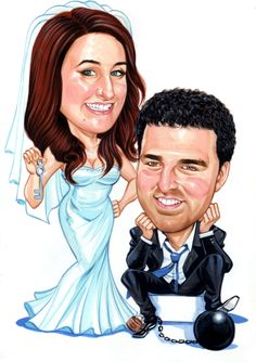 Caricature Wedding http://www.personalizedcaricature.com/