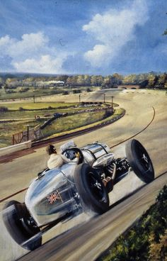 Brooklands Fastest Napier Railton oil painting by Richard Wheatland