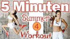 5 Min Workout - Tabata Training - Fett verbrennen am ganzen Körper - Sum...