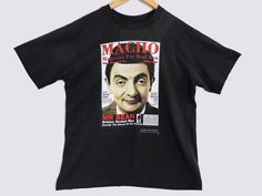 VTG 1996 Mr Bean T-Shirt - Small - Distressed - Faded - Grunge - English Comedy - British TV Show - 90s - Vintage Tee - Vintage Clothing - by BLACKMAGIKA on Etsy