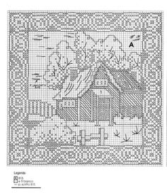 Filet Crochet graph. Oh this would be amazing!!    Gallery.ru / Foto # 26 - Mais Mono + Jacquard - irisha-ira