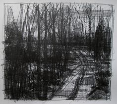 harry stooshinoff, Nightfall Original Pencil Landscape Drawing by Paintbox on Etsy