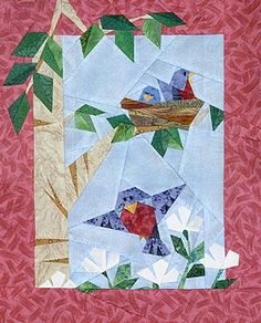 Robin Red Breast Paper-Pieced Quilt Pattern at Paper Panache
