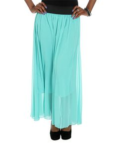 Just bought this Mint Chiffon Maxi Skirt from WetSeal.com for Kelly.