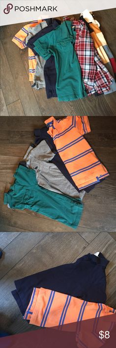 Two Long Sleeve - Four Short Sleeve Shirts Boys Shirt Bundle - all in great used condition. Sizes  in pictures. Have any questions please feel free to ask. Shirts & Tops Polos