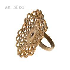 Złocista koronka pierścionek B724  w ARTSEKO na DaWanda.com