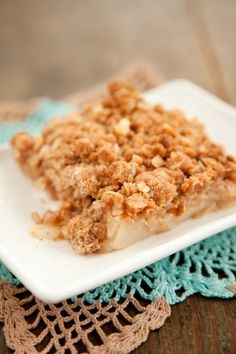 Paula Deen Pear Crisp Recipe -- it's not healthy, but looks amazing! Fruit Recipes, Apple Recipes, Fall Recipes, Fresh Pear Recipes, Pear Dessert Recipes, Cranberry Recipes, Blender Recipes, Yummy Recipes, Recipies