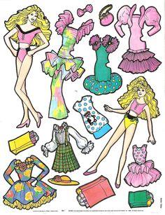Miss Missy Paper Dolls: retro
