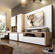 Modern Living Room Wall Units Ideas Storage Inspiration – Decorating Ideas - Home Decor Ideas and Tips Living Room Wall Units, Living Room Cabinets, Living Room Storage, Living Room Colors, Living Room Modern, Home Interior, Interior Design Living Room, Living Room Designs, Wall Storage