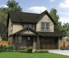 Craftsman Cottage With Gabled Entry - 69522AM | 2nd Floor Master Suite, CAD Available, Craftsman, Loft, Northwest, PDF, Shingle | Architectural Designs