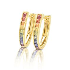 New York Earrings in 14K Gold by Equalli