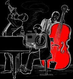 jazz band art | Papier peint jazz band - art - artistique • PIXERS.fr