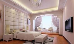 Cool Bedroom Design in Modern Style : Astonishing Modern Bedroom DesignsContemporaryWooden Floor White Bed