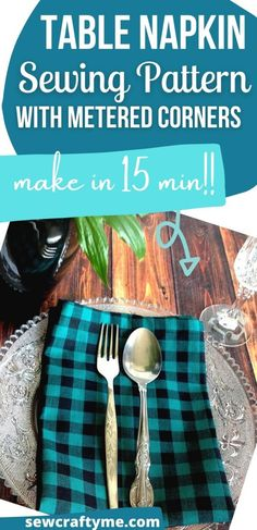 Learn how to sew a cloth napkin in 15 minutes with this easy sewing tutorial. This napkin sewing project is sure to help you add a touch of color and jazz up your dinner table. This beginner friendly sewing pattern serves as a great handmade gift idea too! #diytablenapkins #diytablenapkinsewingprojects #clothnapkindiy #clothnapkindiyhowtomake