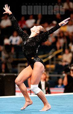 dominique moceanu en gymnastique artistique