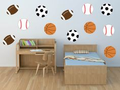 Sports Wall Decal - Soccer Decal - Football Decal - Baseball Decal - Basketball Decal