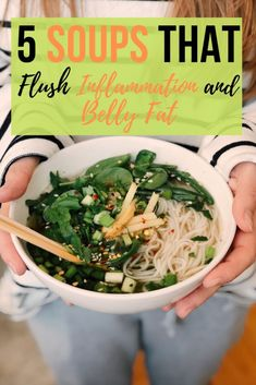 5 soups that flush inflammation and belly fat - Cleanse Detox Flush Ideas Healthy Living Tips, Healthy Tips, Healthy Recipes, Alkaline Diet Recipes, Fast Recipes, Soup Recipes, Cooking Recipes, Natural Cough Remedies, Natural Cures