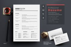 Ad: Resume/CV by ThemeDevisers on Clean Resume Word Template. Elegant page designs are easy to use and customize, so you can quickly tailor-make your resume for any Resume Words, Resume Cv, Resume Design, Resume Format, Resume Tips, Modern Resume Template, Cv Template, Resume Templates, Design Templates