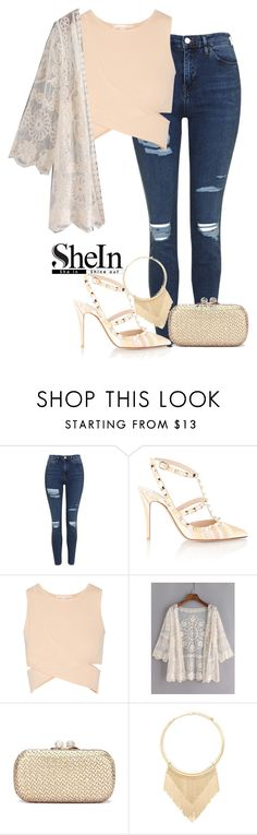"""""""My neighbors think I'm crazy but they don't understand you're all I have."""" by grrxcia ❤ liked on Polyvore featuring Topshop, Valentino, Jonathan Simkhai and Forever 21"""