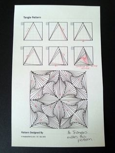 Judy's Zentangle Creations: Paradox Triangles.
