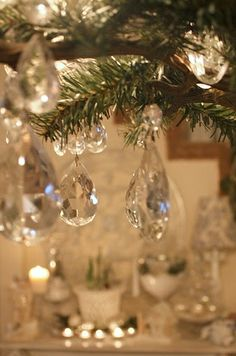 sparkly chandelier ornaments {My Romantic Home}