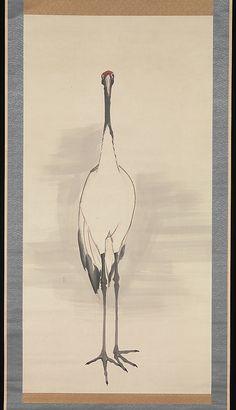 Nagasawa Rosetsu, Cranes, 1780s.