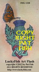 e0eac8451 Scots Love Celtic Tattoo Design - A sweet combination of the thistle of  Scotland, the. LuckyFish Art