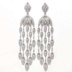 Diamond Chandelier Earrings | You can see the Rest of the Outfit and my Remarks on this board. - Gabrielle