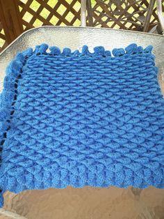 Crocodile Stitch Crochet Afghan Crotchet Blanket by familycraftstore on Etsy