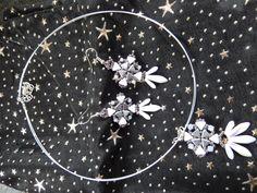 collier et boucles d'oreilles en perles kéops et dagues