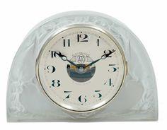 Lalique Moineaux Clock