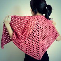 chal triangular facil a crochet ganchillo