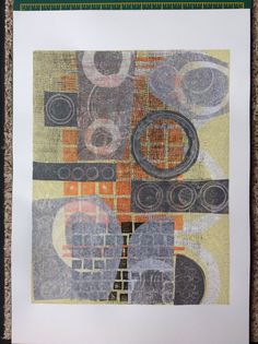 Christine Evans; another gel print with added collage.