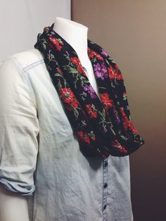 Infinity Scarf-Floral Scarf on Etsy, $15.00 CAD