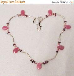 SALE Pink Jade Jewelry Pink Jade Garnet by 3DesignDimensions