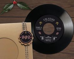V I N Y L · W E D D I N G · I N V I T E S ------------------------------------------------------- These authentic vinyl wedding invitations are made from real 7 inch vinyl records. It will give your music wedding a nice retro feel. The records Music Wedding Invitations, Original Wedding Invitations, Computer Security, Personalized Tags, Wedding Cards, Wedding Stuff, Wedding Ideas, Retro, Twine