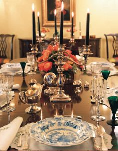 """'I think of dining rooms as theaters. They are stage sets for dinners with table settings as decoration.' -""""Elegant Rooms That Work"""", Dining Rooms"""