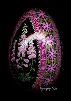 Foxglove Digitalis Ukrainian Easter Egg Pysanky By So Jeo