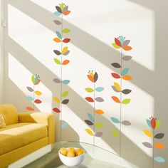 This would ROCK in Mandolin's bedroom! The colors are just great with her crib bedding :)
