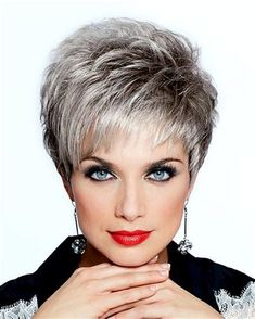 New hair cuts plus size women haircuts short hairstyles Ideas Plus Size Hairstyles, Latest Short Hairstyles, Trendy Hairstyles, Bob Hairstyles, Hairstyles Videos, Older Women Hairstyles, Summer Hairstyles, Short Grey Hair, Very Short Hair