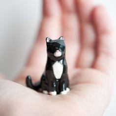Le Black Cat Obsidian Totem // le animalé
