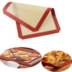 Silicone Baking Mat Fiberglass Non-stick Baking Cake Cookie Bread Pad