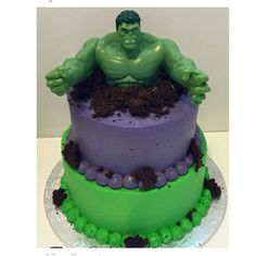 Ethans Hulk cake Hulk cakes Cake and Birthdays