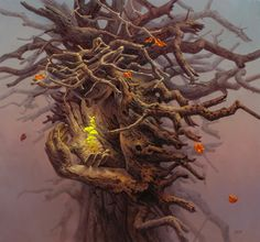We present: - Tomasz Alen Kopera. One of the many paintings by Tomasz Alen Kopera. Fantasy World, Fantasy Art, Courtly Love, Art Visionnaire, Wild Is The Wind, Witch Room, Visionary Art, Surreal Art, Tree Art