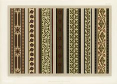 Medieval pattern from The Practical Decorator and Ornamentist by G.A Auds. Motif Design, Design Elements, Medieval Pattern, Greek Pattern, Graphic Design Books, Brick Patterns, Japanese Patterns, Floral Border, Arts And Crafts Movement
