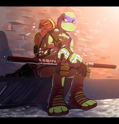 Donatello x April O'Neil (Teenage Mutant Ninja Turtles) Teenage Ninja Turtles, Ninja Turtles Art, Tortugas Ninja Leonardo, Tmnt Girls, Tmnt 2012, Couple Cartoon, Sweet Couple, Manga, Little Pony