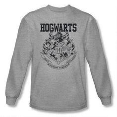 Hogwarts Crest Athletic Adult Heather  Long Sleeve T-Shirt  