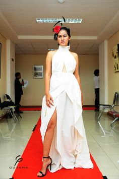fashion draping class project resulting the very sexy yet elegant cocktail dress with a long side slit.. #fashion #fashiondesign #fashiondraping #presentation #fashionstudent #garmentproject
